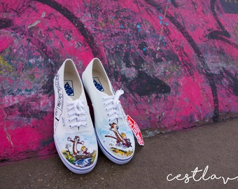 Calvin and Hobbes Custom Handpainted Shoes for Eric
