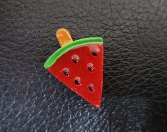 Red watermelon slices lollypop themed resin needleminder  magnet