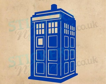Dr Who Tardis - Police Box - Personalised - Vinyl Wall Art Wall Decal  Window Sticker Wall Decor Various Sizes Various Colours Made To Order