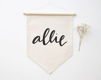 Custom Name Banner - Different Sizes - Wall Flag - Canvas Flag - Wall Banner - Screen Printed Banner