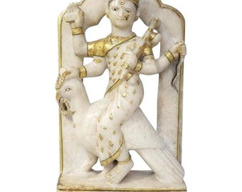 Early Alabaster Sculpture of an Indian Deity with Bird
