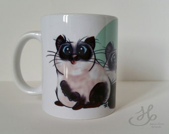 """40% OFF Cup """"Purrrfect day"""" digital print cat"""