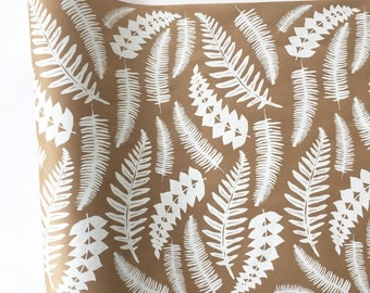 Wrapping Paper   Fern Gift Wrapping Paper, Screen Printed, White Wrapping  Paper, 9ft