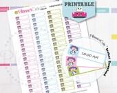 Doctor Stickers, Printable Kawaii Sticker, Nurse Appointment,  Label Reminder, Planner Cute Medical Sticker, Erin Condren, K038