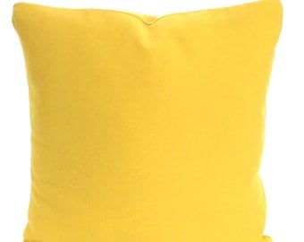 Solid Yellow Pillow Covers, Decorative Throw Pillow Cushion Cover, Corn Yellow Pillow Euro Sham, Throw Pillow, Bed Pillow All Sizes