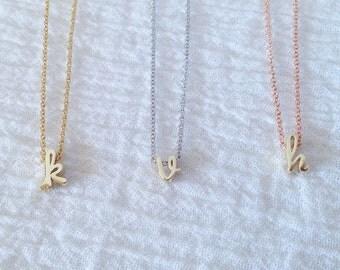 Minimal Necklace Minimalist necklace Simple Necklace Silver Everyday Necklace - DCIN