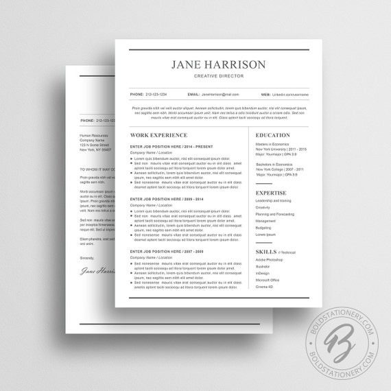 Simple Resume Template 21 Cover Letter Word Resume