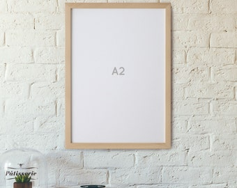 A2 POSTER Frame *NO GLASS* 42 cm x 59.4 cm Picture Frame Art Frame international, Large Poster Frame, A2 Poster, A2 Natural Picture frame
