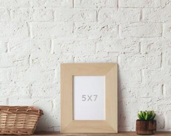 Frame embellishments etsy for Unfinished wood frames for crafts