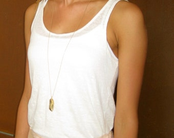Feather Necklace - Layering Necklace - Gold Necklace - Long Necklace