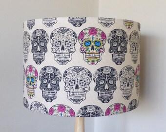 Sugar Skull Lampshade   Calavera   Skulls   Goth   Handmade in Australia