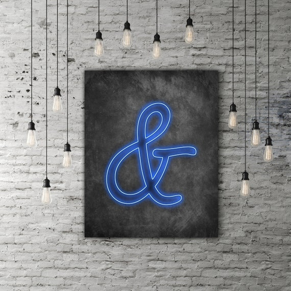 Ampersand decor neon art and symbol neon letter decor for Ampersand decor
