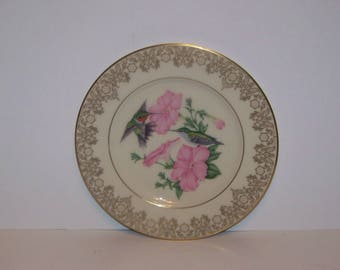Lenox China Hummingbird Plate 1989