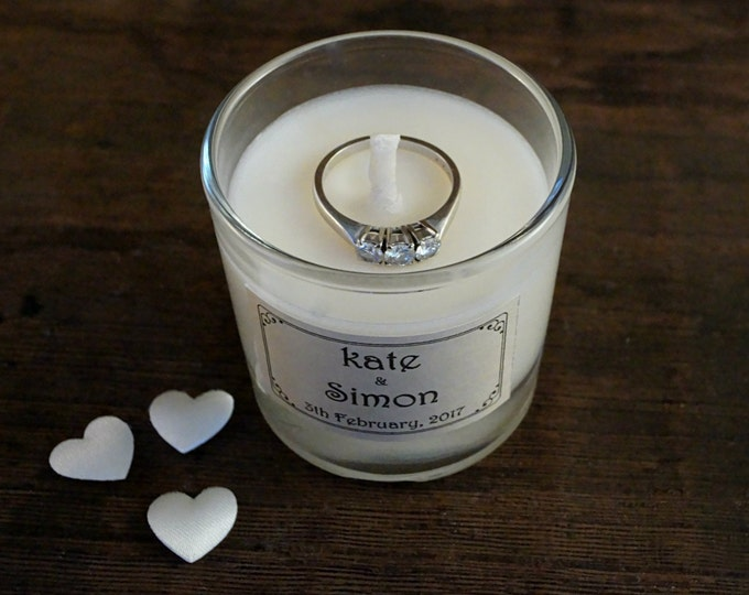 Placeholder Mini Candle 3.5oz, Personalized, Fragrance label, Glass jar, Scented Candle, Table sign candles, Table holders, Wedding idea