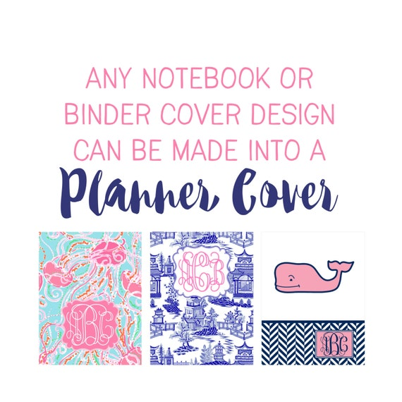 Personalized Planner Covers - Choose from Cover only or Cover Set - Fits all Happy Planners, Erin Condren and Recollections Planners!