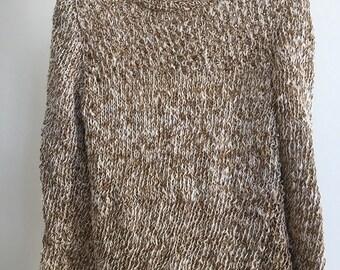 Openwork sweater natural