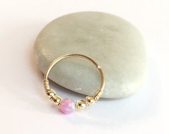 Cartilage earring tiny gemstone gold hoop gold cartilage for Helix piercing jewelry canada