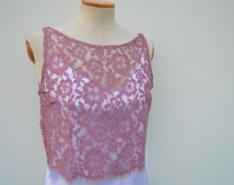 Top lace cocktail, crop top lace rose Heath