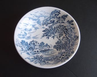 Countryside Blue by Enoch Wedgwood Discontinued Pattern 1966 to 1968 Blue English Scenes Bowl 5 inches England