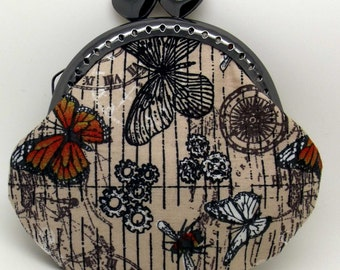 Steampunk Butterfly Coin Purse