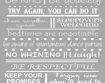 Nana and Papa House Rules Sign Gifts for Grandparents Grandma and Grandpa Instant Download Digital Printables Custom House Rules Poster