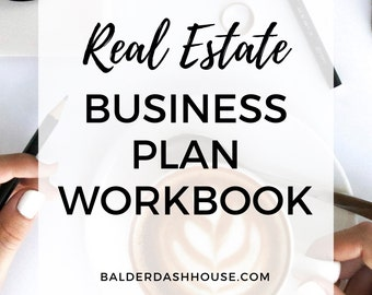 Business Plan Workbook for Real Estate Agents, Real Estate Templates, Real Estate Stationery