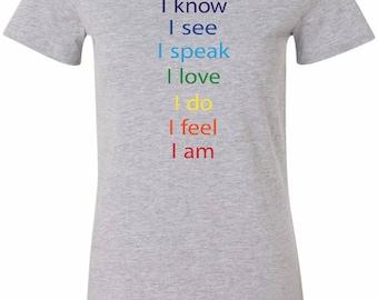 Yoga Clothing For You Chakra Words Womens Longer Length Tee T-Shirt = 6004-CHAKWORDS
