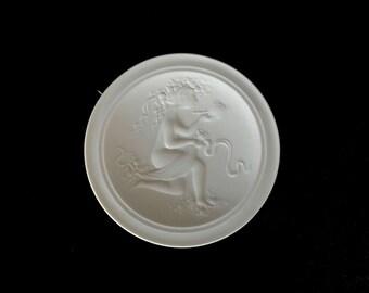 Vintage Mid Century Modern Bjorn Wiinblad for Rosenthal Studio Linie White Porcelain Powder Jar LID ONLY MCM