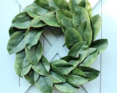 Magnolia Wreath ~ Fixer Upper Decor ~ Winter Wreath ~ Magnolia Leaf Wreath ~ Magnolia Decor ~ Farmhouse Wreath ~ Spring Wreath
