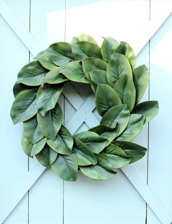 Magnolia Leaf Wreath: Magnolia Wreath Fixer Upper Decor Summer Wreath Magnolia