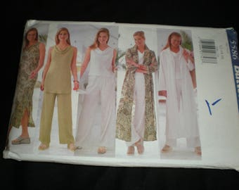 1998 UNCUT Butterick Fast & Easy Classic 5586 Pattern in 3 Sizes: 12-14-16
