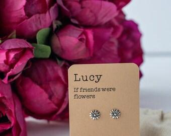 If friends were flowers earrings