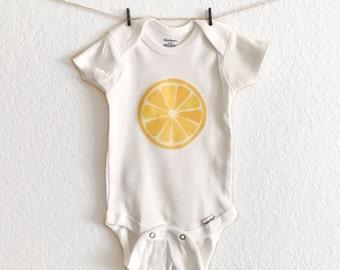 Summer - Spring - Baby Bodysuit - Lemon Slice