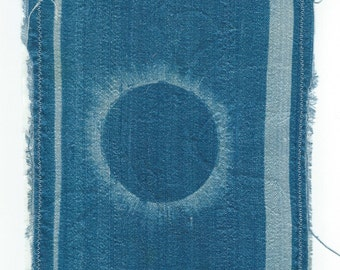 Solar Eclipse Cyanotype Patch