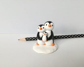 New baby penguin. Pottery penguins, new baby gift, miniature penguins