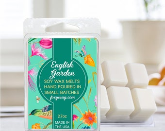Soy Wax Melts English Garden Hand Poured 2.7 ounce
