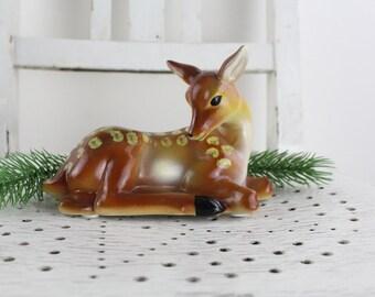 Beautiful ceramic deer figure Bambi figure of the 60s