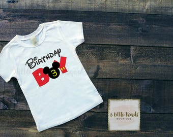 Mickey Birthday Boy Shirt | Two Shirt | 1st Birthday Shirt | First Birthday Outfit | Disney Birthday | Mickey Mouse Clubhouse