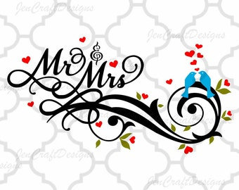 Wedding Bride Mr and Mrs SVG, Husband and Wife SVG, DXF, eps, png Files for Cutting Machines Cameo, Cricut Bride svg, Bridesmaid svg