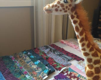 Made to Order Adult Giraffe, Needle Felted Sculpture in 100% Wool