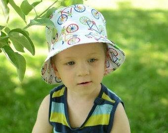 Boys Summer Hat, Girls Sun Hat, Kids Bucket Hat, Toddler Beach Hat, Toddler Boys Bucket Hat, Toddler Girls Bucket Hat, Cotton Summer Hat