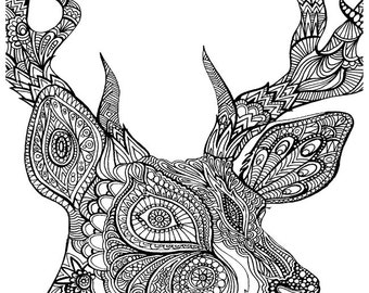 TURTLE Instant Download ADULT Coloring Pages Digital