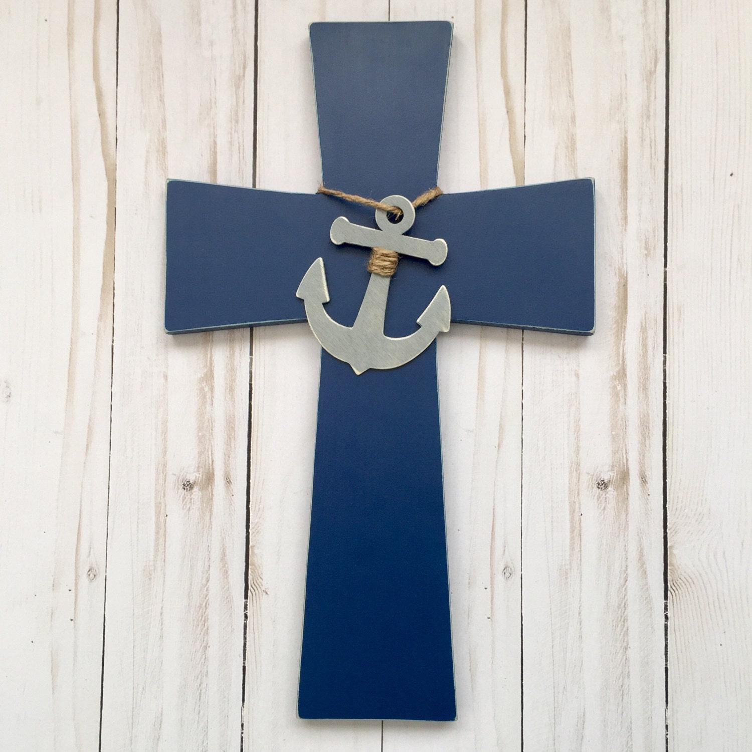 Nautical cross navy anchor wall cross nautical decorative for Anchor decoration runescape