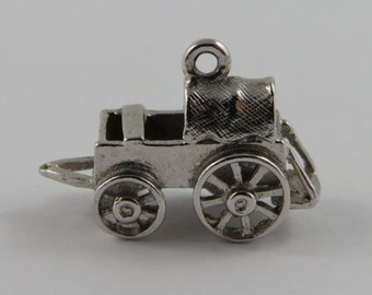 Baby Carriage Sterling Silver Vintage Charm For Bracelet