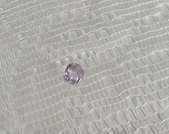 Rose De France Natural Round Cut Amethyst 1.88cts 9mm