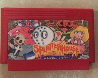 Splatterhouse Custom Reproduction  Famicom 8bit Game. Free Shipping!