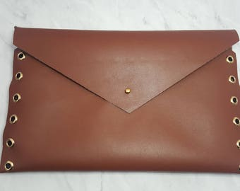 Brown Envelope Clutch