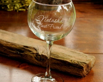 Personalized Red Wine Glass - Wine Gifts