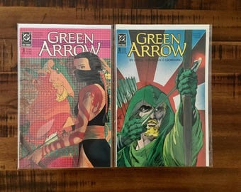 1988 Green Arrow #9 and #10 Comic Books/ NM-VF/ 1988 DC Comics/ 1st Series/ Part 1, 2 of 4/ Choose One or Both for a Discounted Price!!!