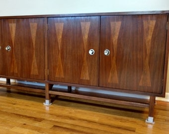 mid century distinctive furniture by stanley credenza buffet sideboard